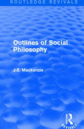 Outlines of Social Philosophy book cover