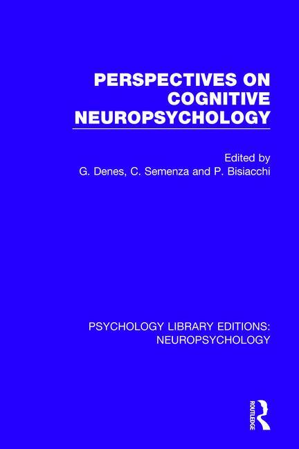 Perspectives on Cognitive Neuropsychology book cover