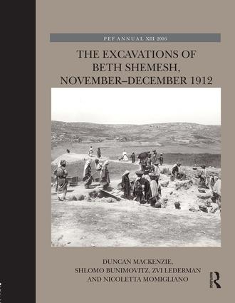 The Excavations of Beth Shemesh, November-December 1912: 1st Edition (e-Book) book cover
