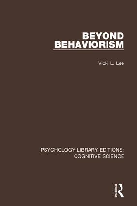 Beyond Behaviorism: 1st Edition (Paperback) book cover
