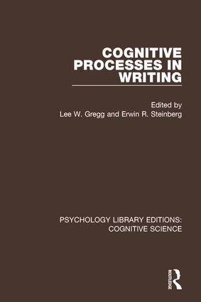 Cognitive Processes in Writing: 1st Edition (Paperback) book cover