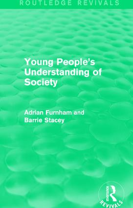 Young People's Understanding of Society (Routledge Revivals) book cover