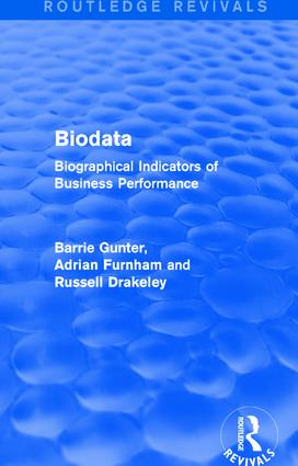 Biodata (Routledge Revivals): Biographical Indicators of Business Performance book cover