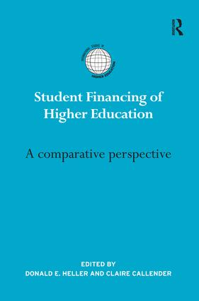 Student Financing of Higher Education: A comparative perspective (e-Book) book cover