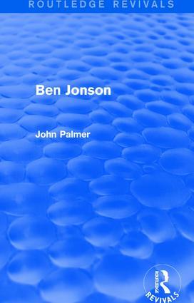 Ben Jonson: 1st Edition (Paperback) book cover
