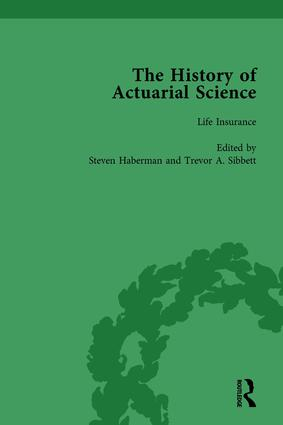 The History of Actuarial Science Vol V: 1st Edition (Hardback) book cover