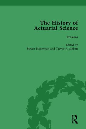 The History of Actuarial Science Vol VI: 1st Edition (Hardback) book cover