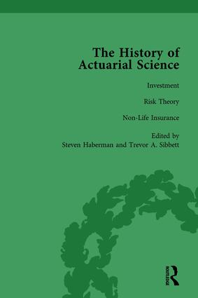 The History of Actuarial Science Vol VII: 1st Edition (Hardback) book cover
