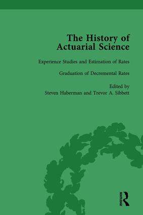 The History of Actuarial Science Vol X: 1st Edition (Hardback) book cover