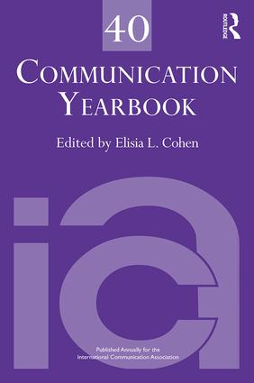 Communication Yearbook 40: 1st Edition (e-Book) book cover