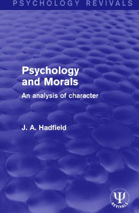 Psychology and Morals