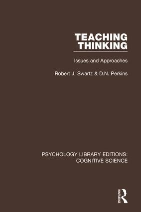 Teaching Thinking: Issues and Approaches, 1st Edition (Paperback) book cover
