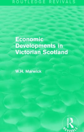 Economic Developments in Victorian Scotland book cover