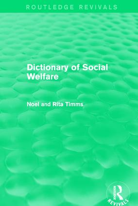 Dictionary of Social Welfare: 1st Edition (Paperback) book cover
