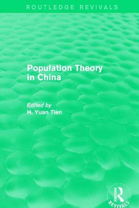 Population Theory in China: 1st Edition (Hardback) book cover