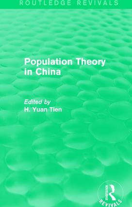 Population Theory in China: 1st Edition (Paperback) book cover