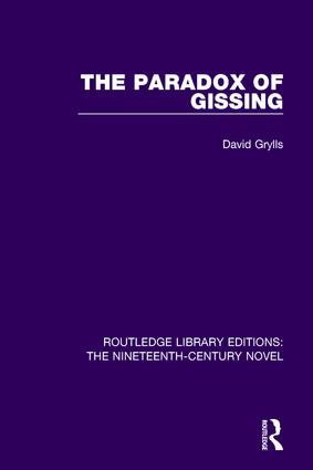 The Paradox of Gissing book cover