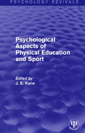 Psychological Aspects of Physical Education and Sport book cover
