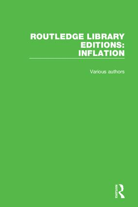 Routledge Library Editions: Inflation book cover