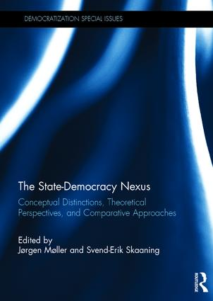 The State-Democracy Nexus: Conceptual Distinctions, Theoretical Perspectives, and Comparative Approaches book cover