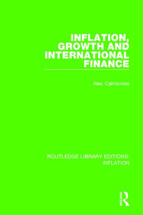 Inflation, Growth and International Finance: 1st Edition (Hardback) book cover