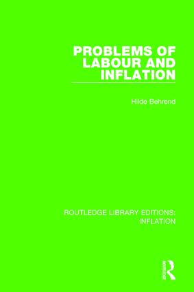 Problems of Labour and Inflation book cover