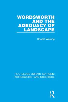 Wordsworth and the Adequacy of Landscape book cover