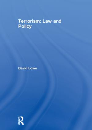 Terrorism: Law and Policy, 1st Edition (Hardback) book cover