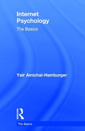 Internet Psychology: The Basics book cover