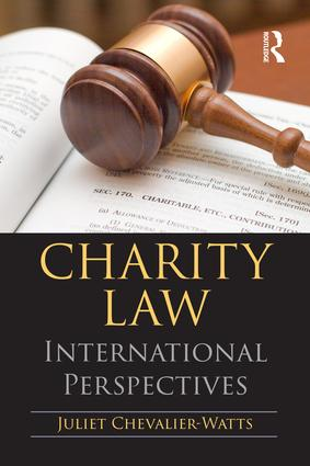Charity Law: International Perspectives book cover