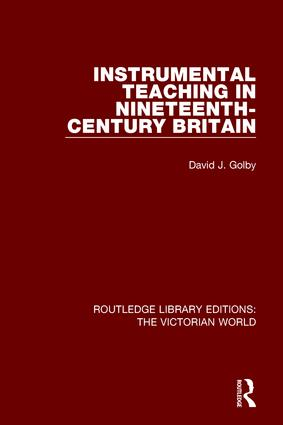 Instrumental Teaching in Nineteenth-Century Britain book cover