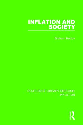 Inflation and Society book cover