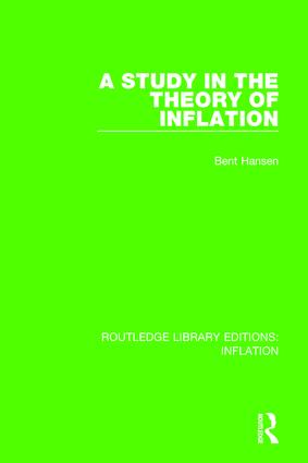 A Study in the Theory of Inflation: 1st Edition (Paperback) book cover