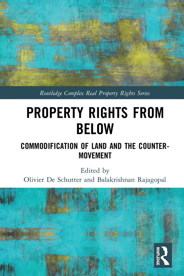 Property Rights from Below: Commodification of Land and the Counter-Movement book cover