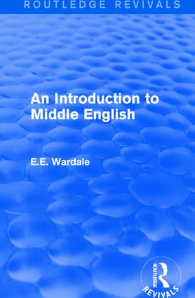 An Introduction to Middle English: 1st Edition (Paperback) book cover