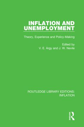 Inflation and Unemployment: Theory, Experience and Policy Making book cover