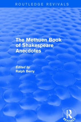 The Methuen Book of Shakespeare Anecdotes: 1st Edition (Paperback) book cover