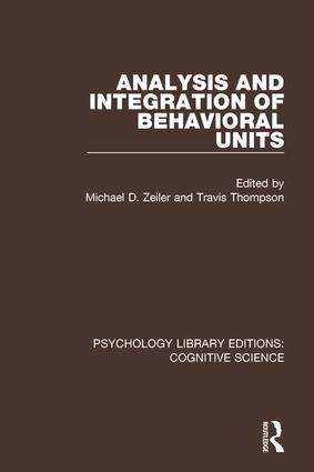 Behavioral Units: A Historical Introduction
