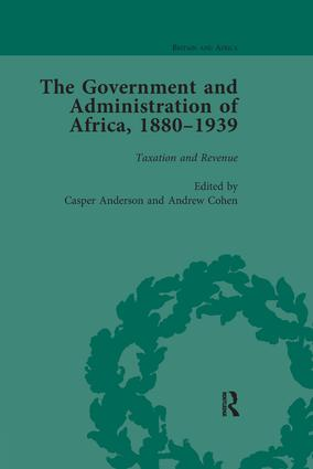 The Government and Administration of Africa, 1880-1939: 1st Edition (Paperback) book cover