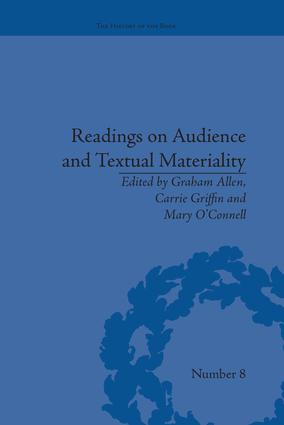 Readings on Audience and Textual Materiality: 1st Edition (Paperback) book cover