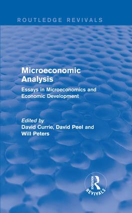 Microeconomic Analysis (Routledge Revivals): Essays in Microeconomics and Economic Development book cover