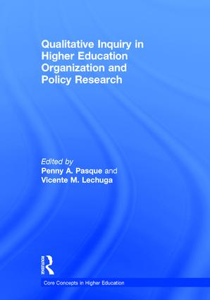 Qualitative Inquiry in Higher Education Organization and Policy Research book cover