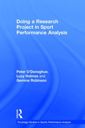 Doing a Research Project in Sport Performance Analysis book cover