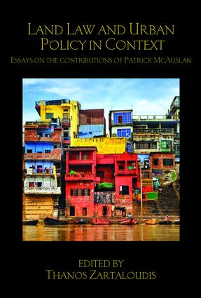 Land Law and Urban Policy in Context: Essays on the Contributions of Patrick McAuslan book cover
