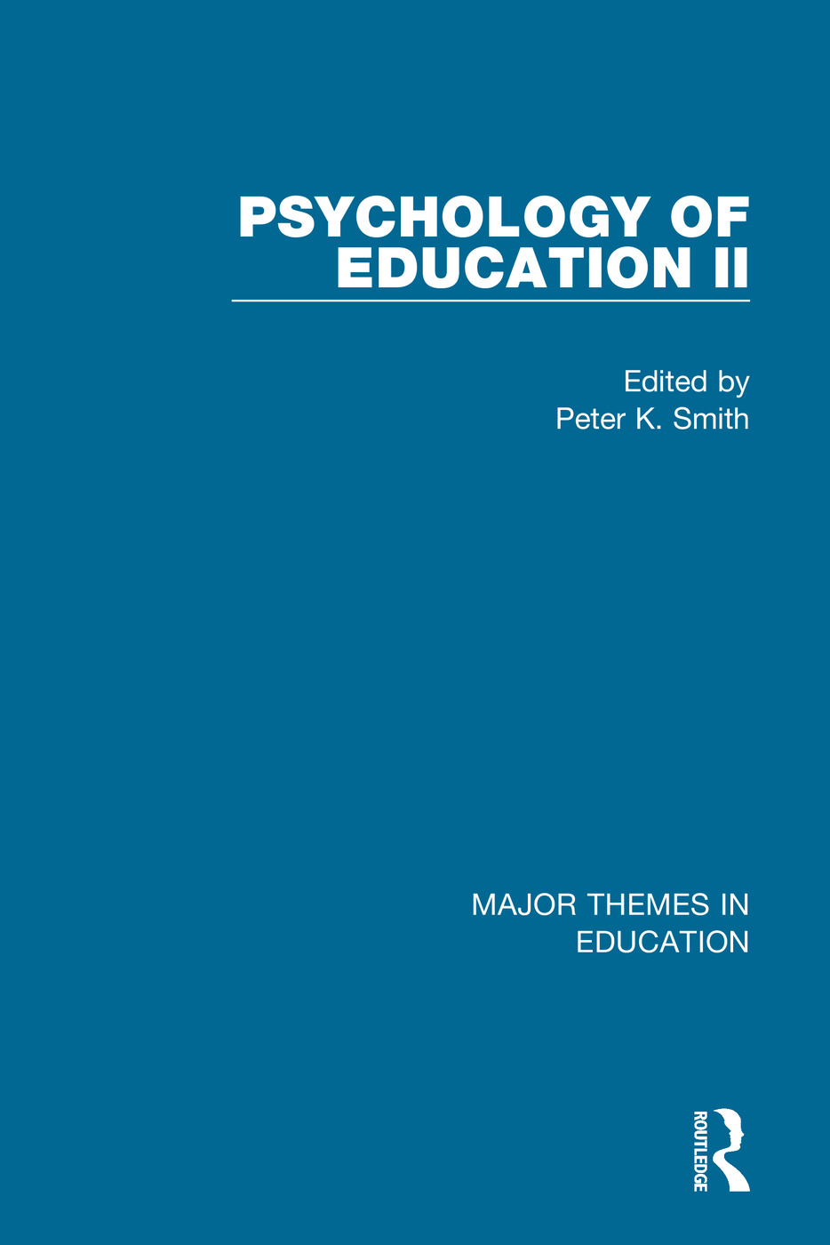 Smith: Psychology of Education II (4-vol. set) book cover