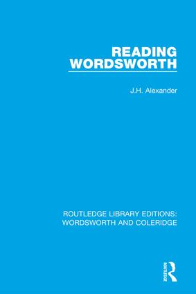 Reading Wordsworth book cover