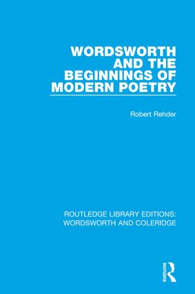 Wordsworth and Beginnings of Modern Poetry book cover