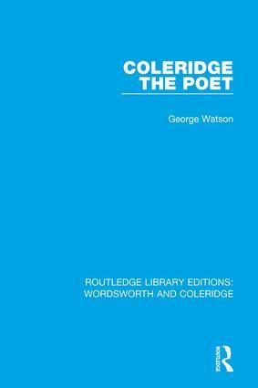 Coleridge the Poet book cover