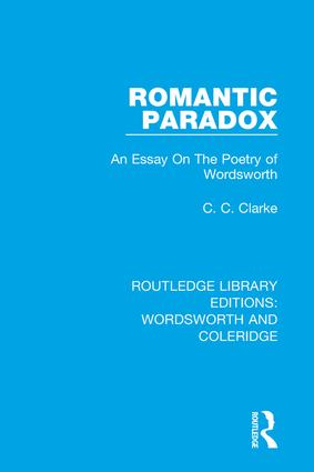 Romantic Paradox: An Essay on the Poetry of Wordsworth book cover