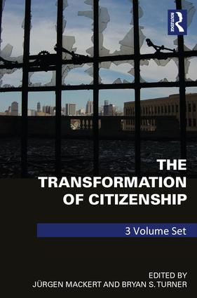 The Transformation of Citizenship: 3 volume set, 1st Edition (Hardback) book cover